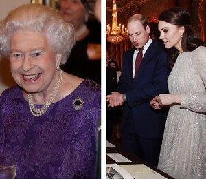 Кейт Миддлтон и королева Елизавета II вместе вышли в свет
