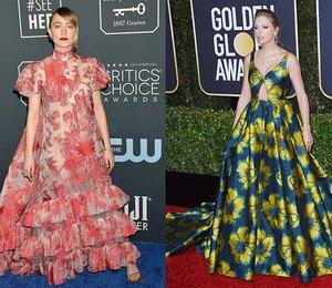 6 выходов звезд в нелепых платьях, похожих на клумбу