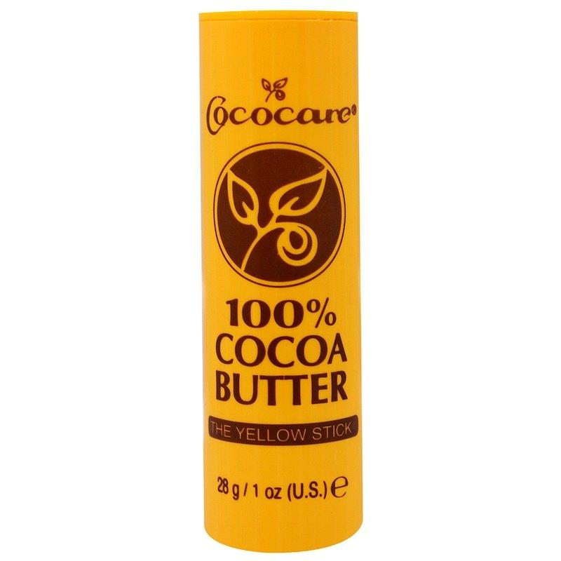 100%-е масло какао встике, Cococare (цена - около 100 рублей)