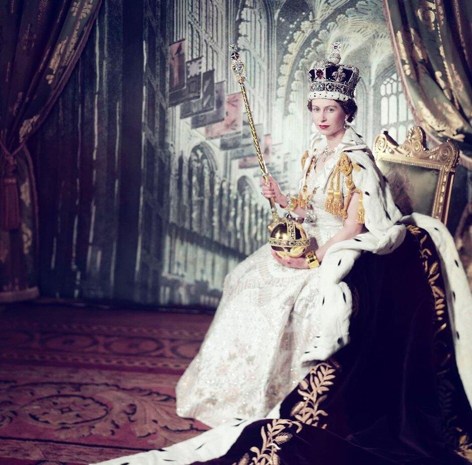 Архивное фото Елизаветы II