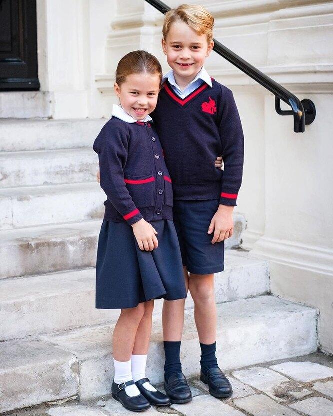 У принца Джорджа и принцессы Шарлотты начались каникулы