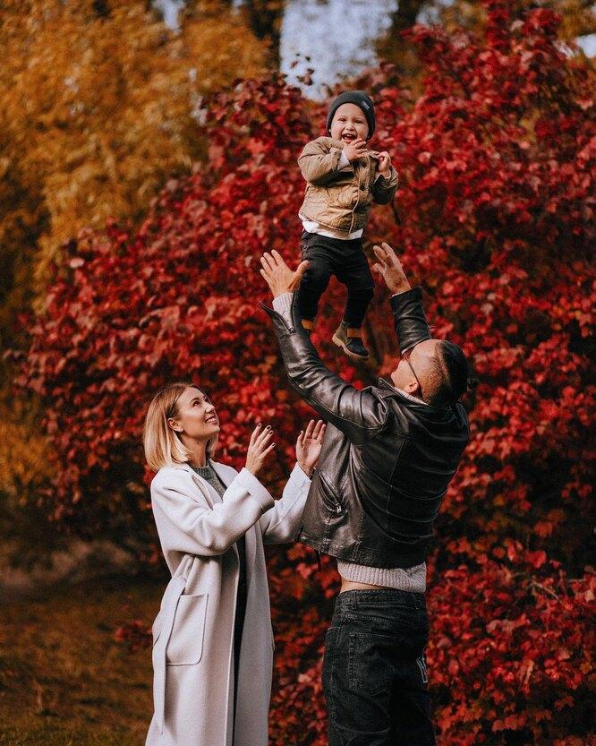 Алла Земскова с семьей