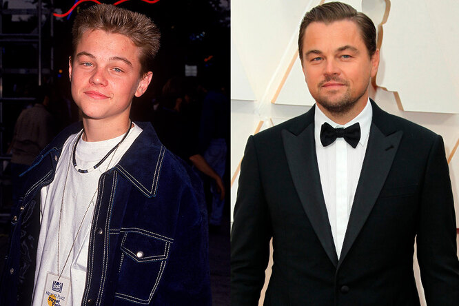 Леонардо Ди Каприо, 1992 и сейчас