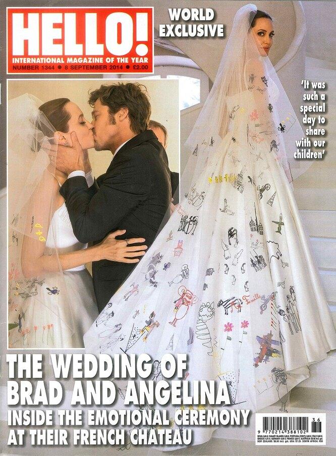 Свадьба Анджелины Джоли и Брэда Питта, 2014 год. Съемка для Hello!
