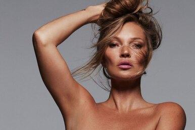 47-летняя Кейт Мосс снялась воткровенном кампейне бренда Ким Кардашьян
