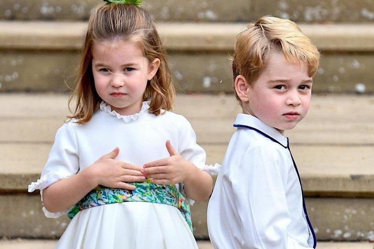 Принц Джордж ипринцесса Шарлотта готовят маме ужины