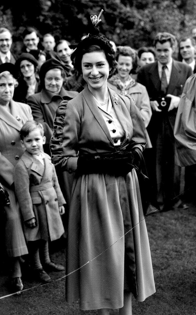 Принцесса Маргарет в 1950году