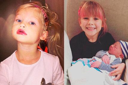 На губах помада: дети звезд, которые начали краситься вдошкольном возрасте