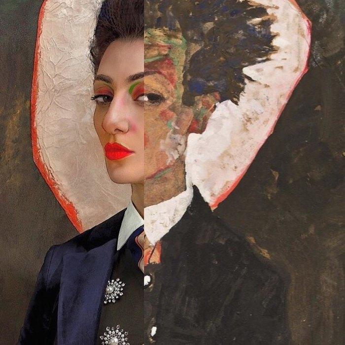 Лиля Корнели вобразе Эгона Шиле (автопортрет)