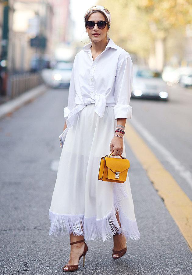 белая рубашка идеи счем носить