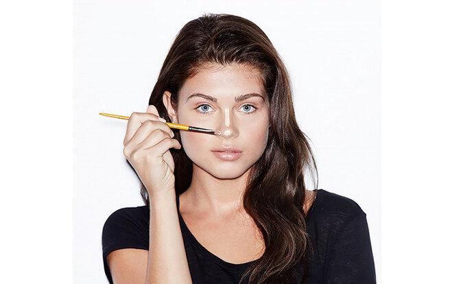 как визуально уменьшить нос макияжем