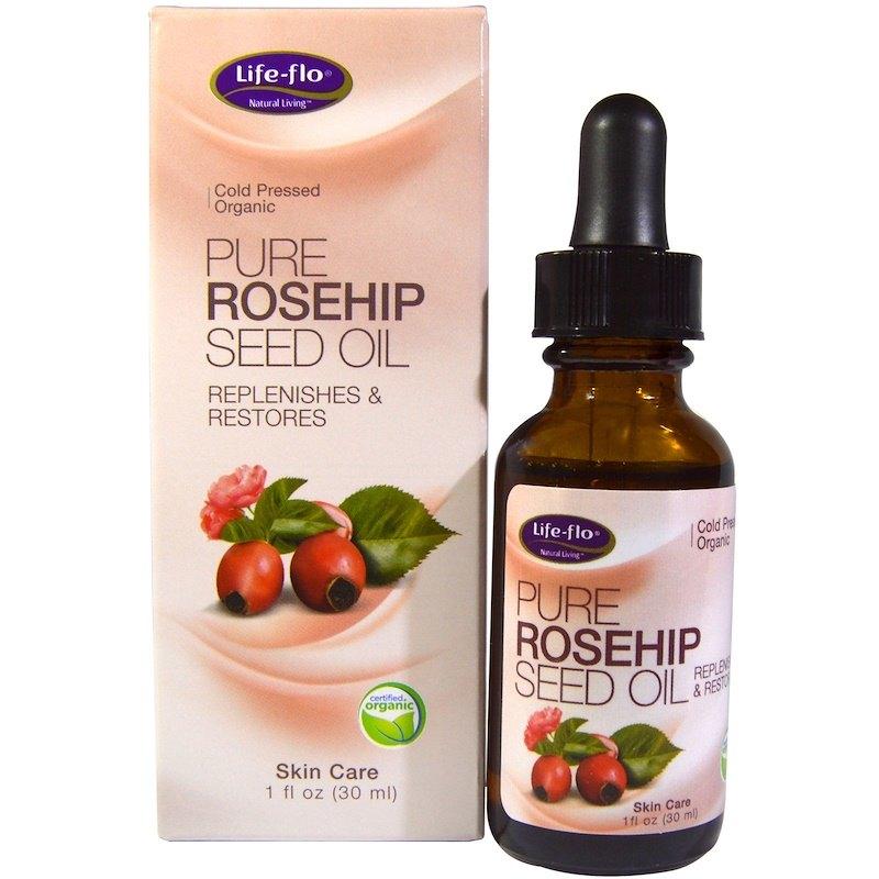 Чистое масло семян шиповника, Life Flo Health (цена - около 300 рублей)