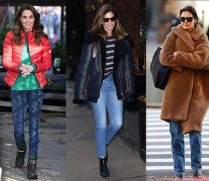 С чем носить джинсы зимой 2020? 5 рекомендаций от самых стильных звезд