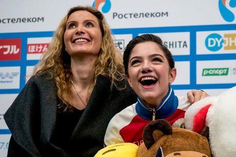 Этери Тутберидзе и Евгения Медведева