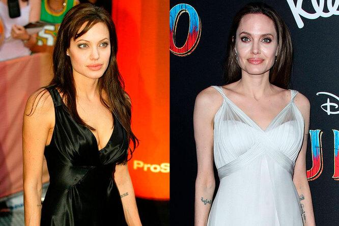 Анджелина Джоли тогда и сейчас