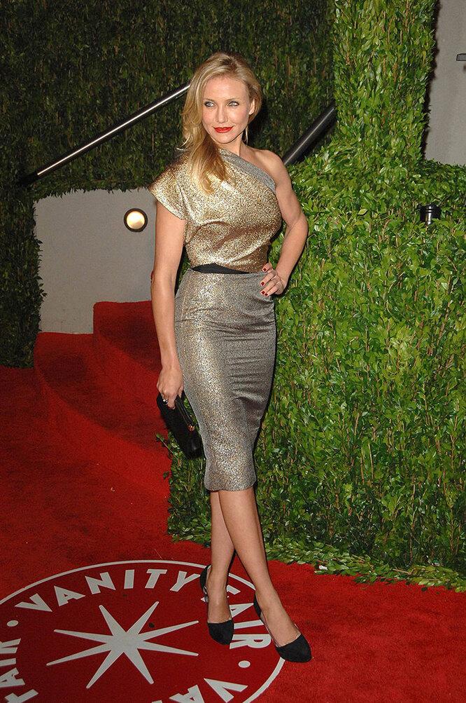 КэмеронДиаз в 2010 году вечеринке Vanity Fair