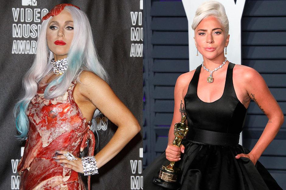 Леди Гага тогда исейчас