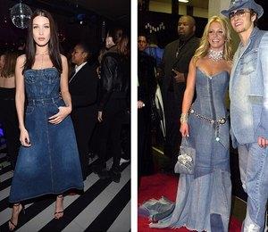 Тренд или копия: Белла Хадид примерила образ Бритни Спирс 16-летней давности