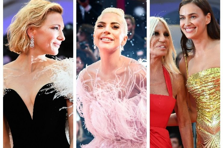 Ирина Шейк, Леди Гага, Кейт Бланшетт идругие напремьере «Звезда родилась»