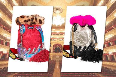 Для России слюбовью: театральные сумочки Christian Louboutin